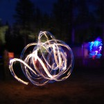 Light Painting with the fire baton twirlers